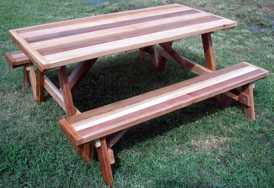Cedar Picnic Table For Your Outdoor Randolph Indoor And