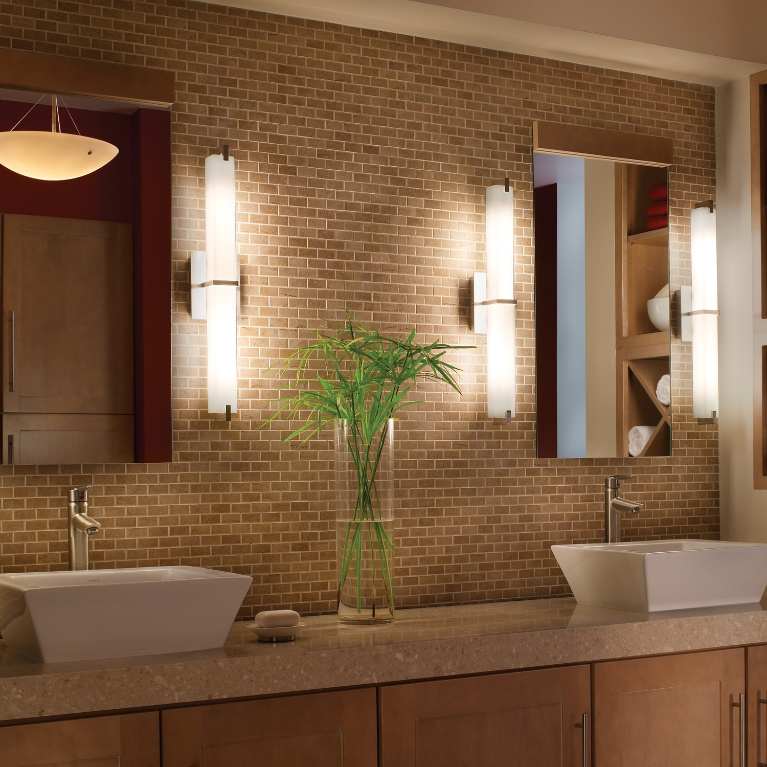 Modern Brushed Nickel Vanity Light Randolph Indoor And Outdoor Design