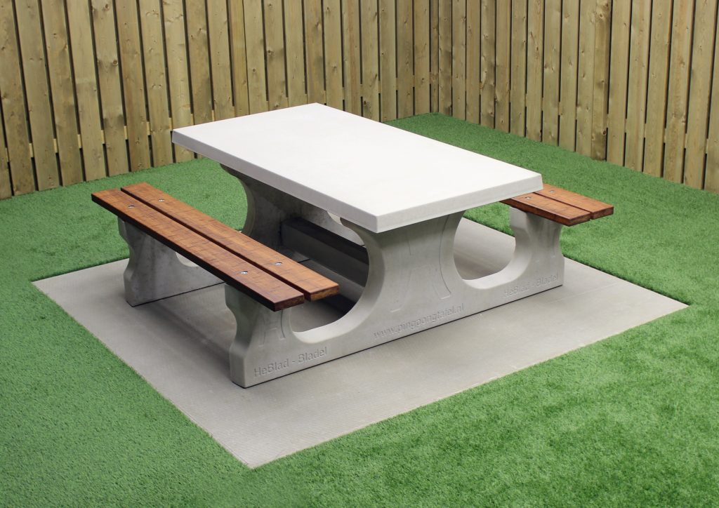 clean concrete picnic tables — randolph indoor and outdoor
