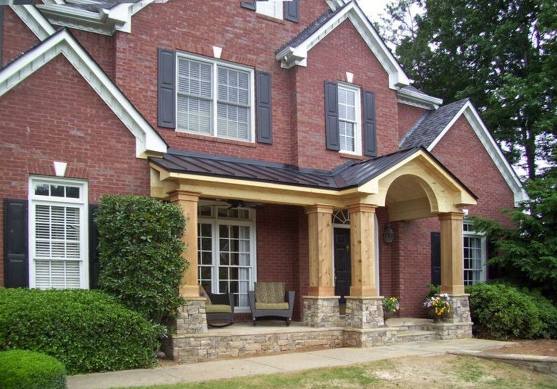 Adding A Front Porch To Brick Home