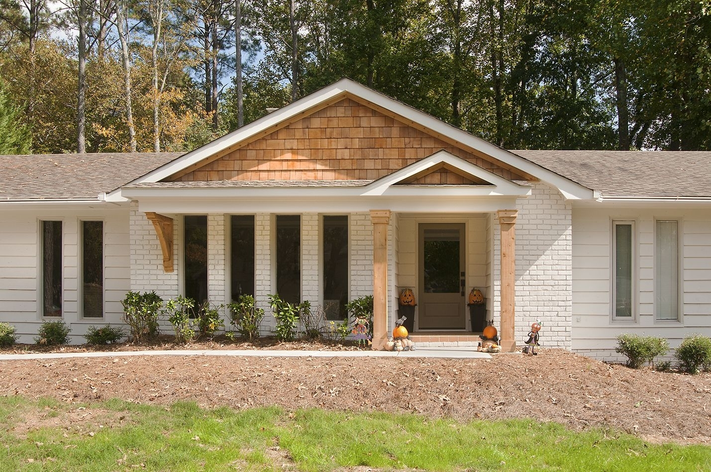 Adding A Front Porch To Ranch Style Home Randolph Indoor