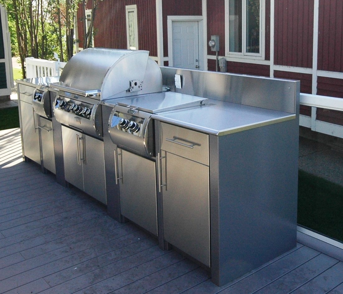 Outdoor Kitchen Frames: Strong And Durable Metal Frame Outdoor Kitchen
