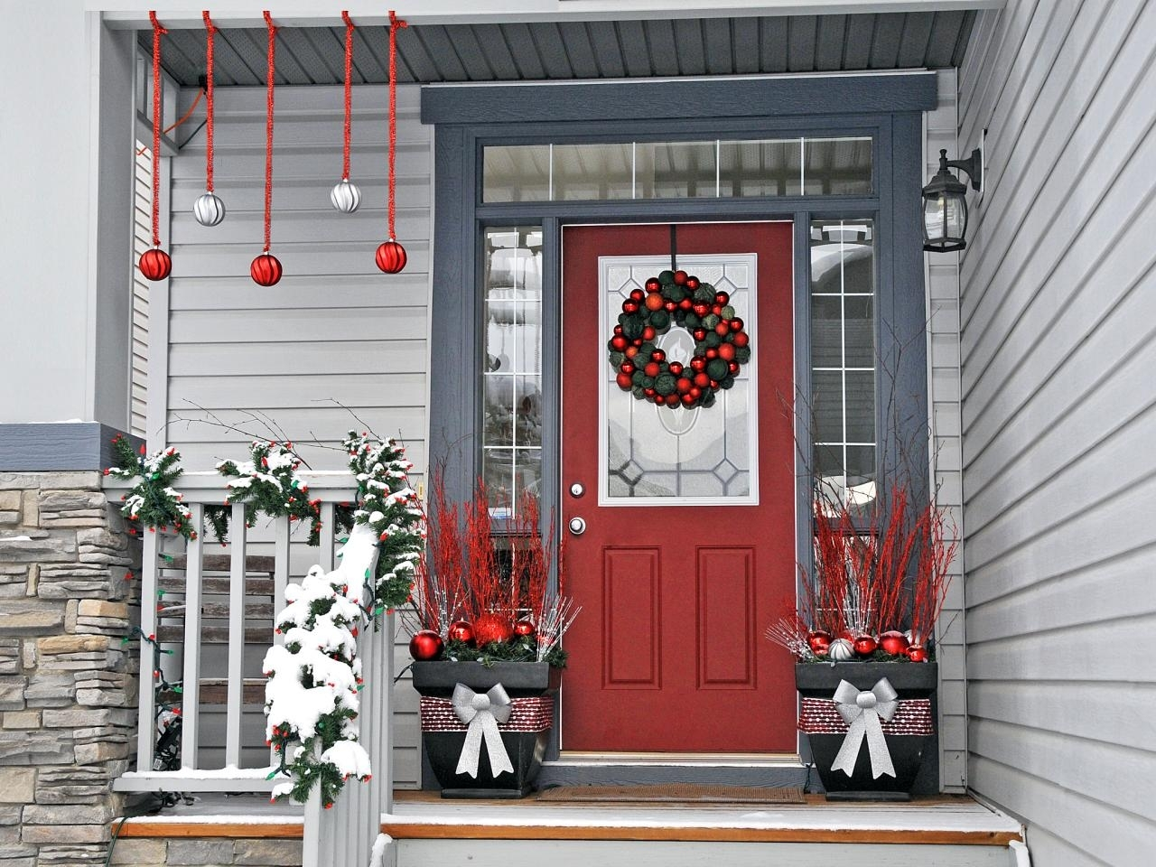 Christmas Artificial Front Porch Topiary Randolph Indoor And Outdoor Design