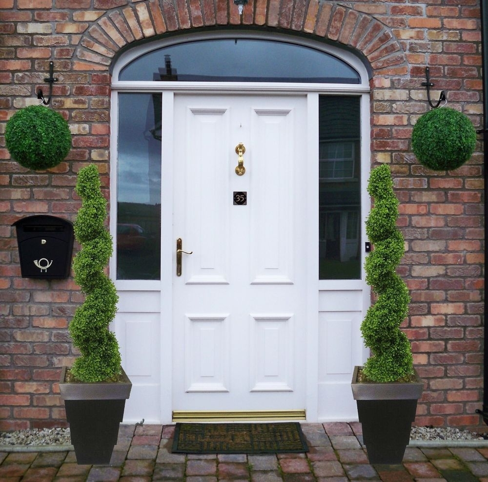 Marvelous Artificial Front Porch Topiary Randolph Indoor And Door Handles Collection Olytizonderlifede
