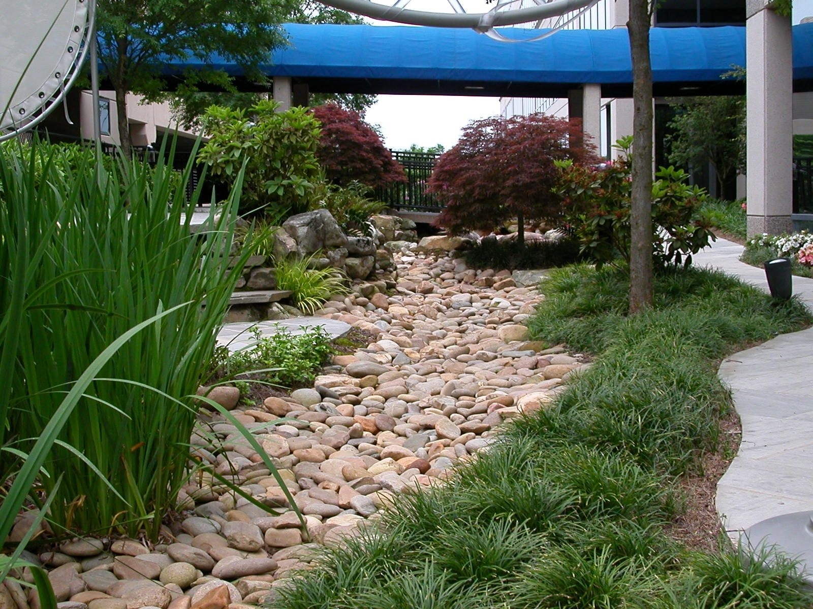 River Rock Drainage Ditch Landscaping Ideas — Randolph ...