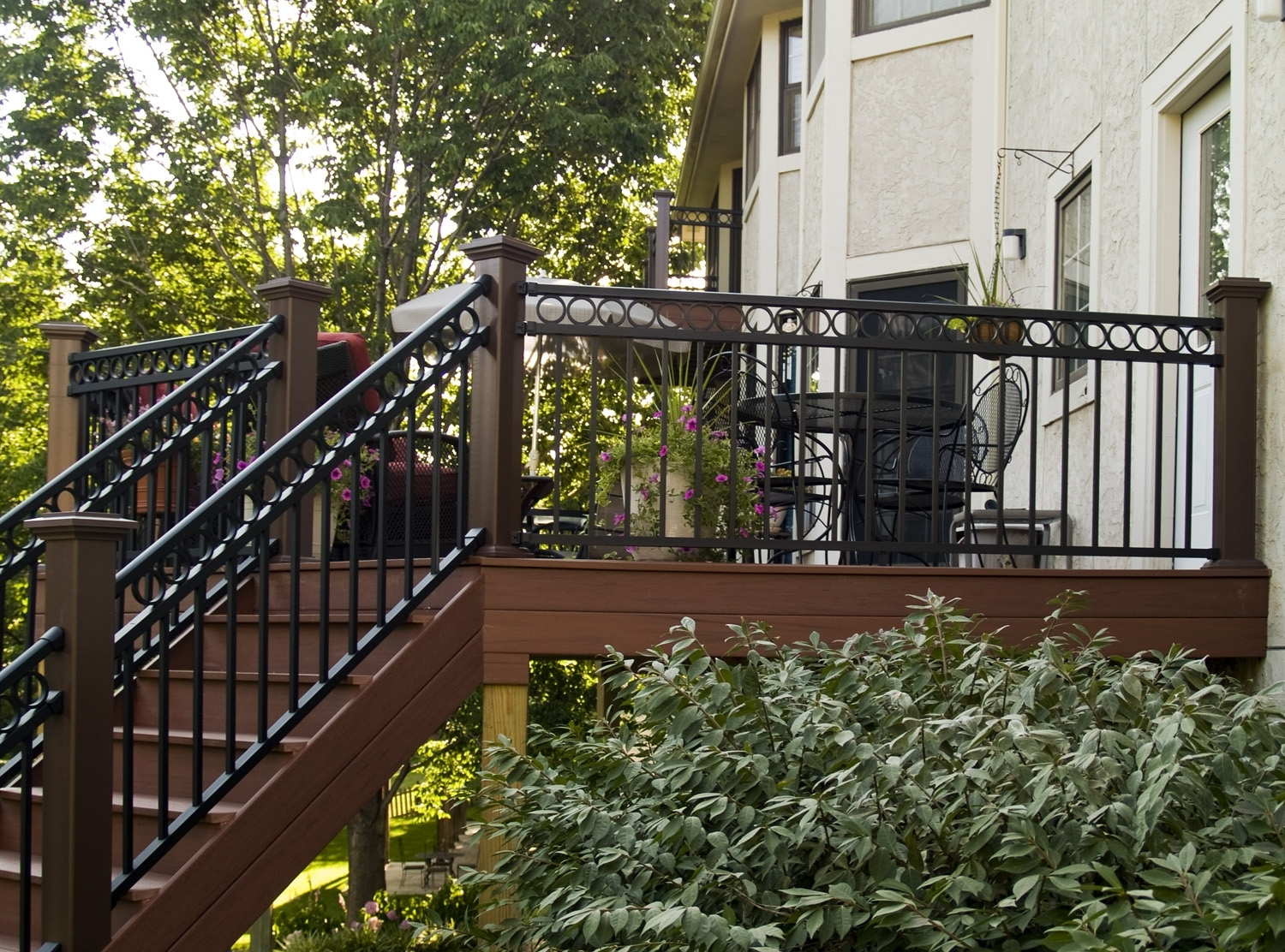 Black Vinyl Porch Railing Randolph Indoor And Outdoor Design