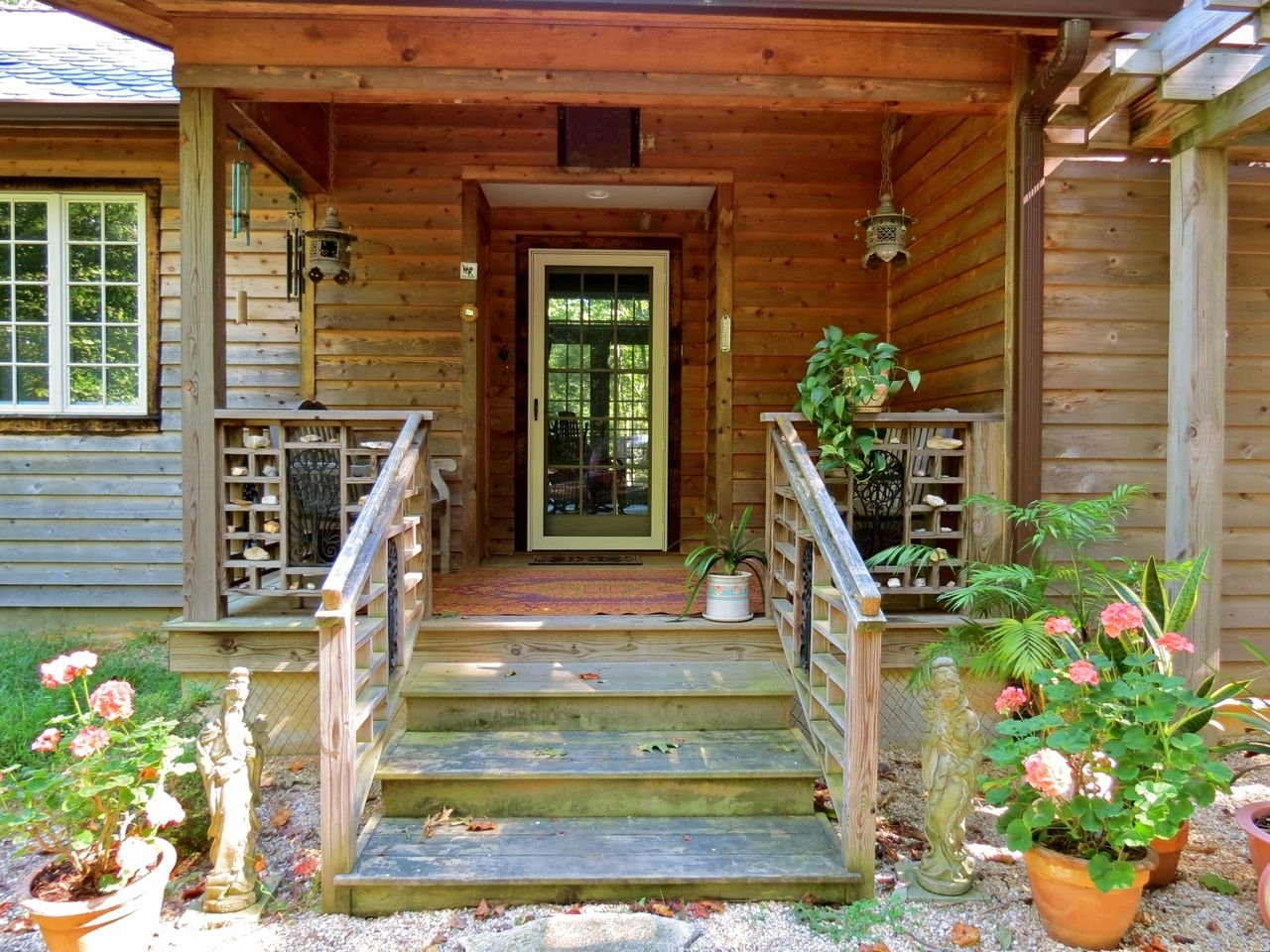 Cedar Wrapped Front Porch Columns Randolph Indoor And