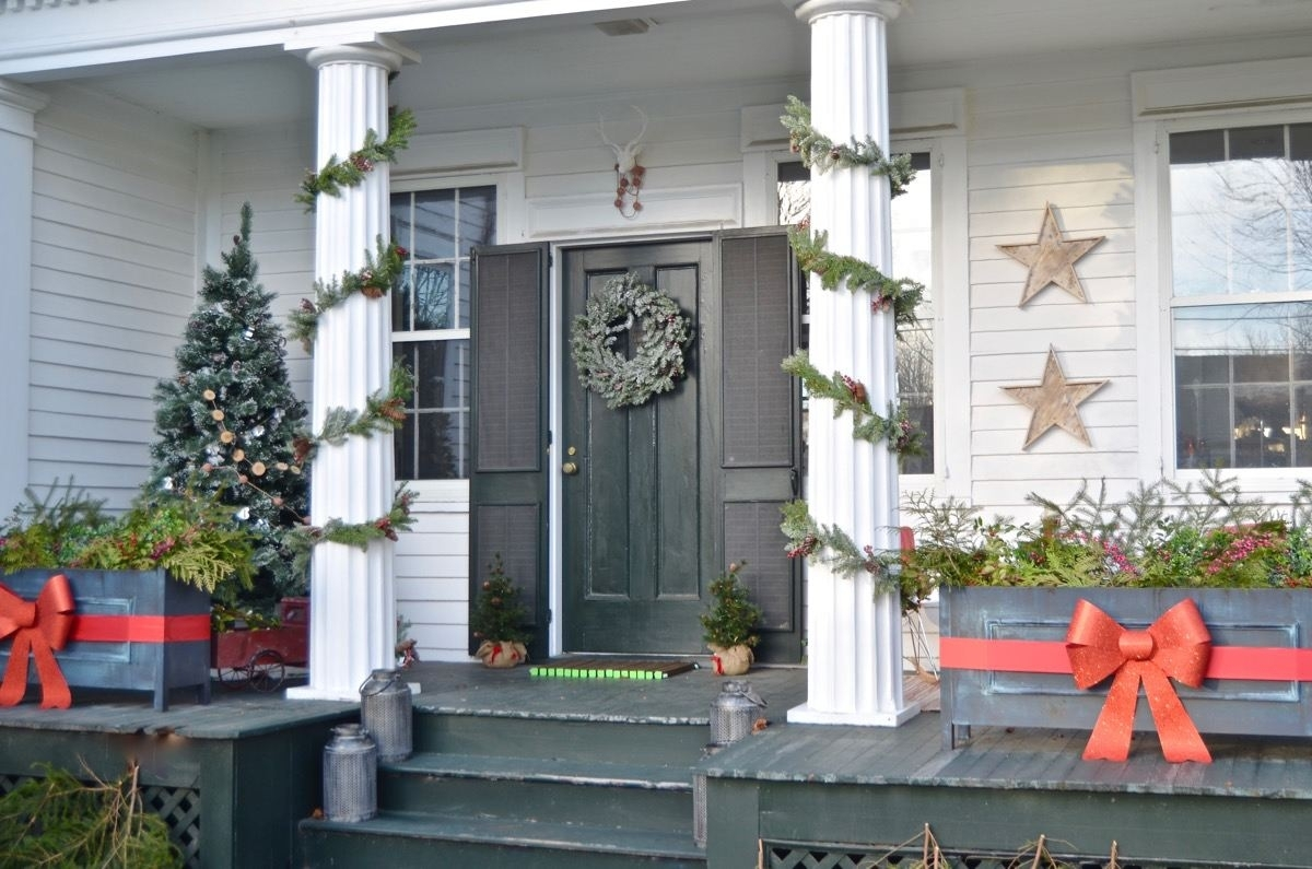 Christmas Topiary For Front Porch.Christmast Front Porch Topiary Randolph Indoor And Outdoor
