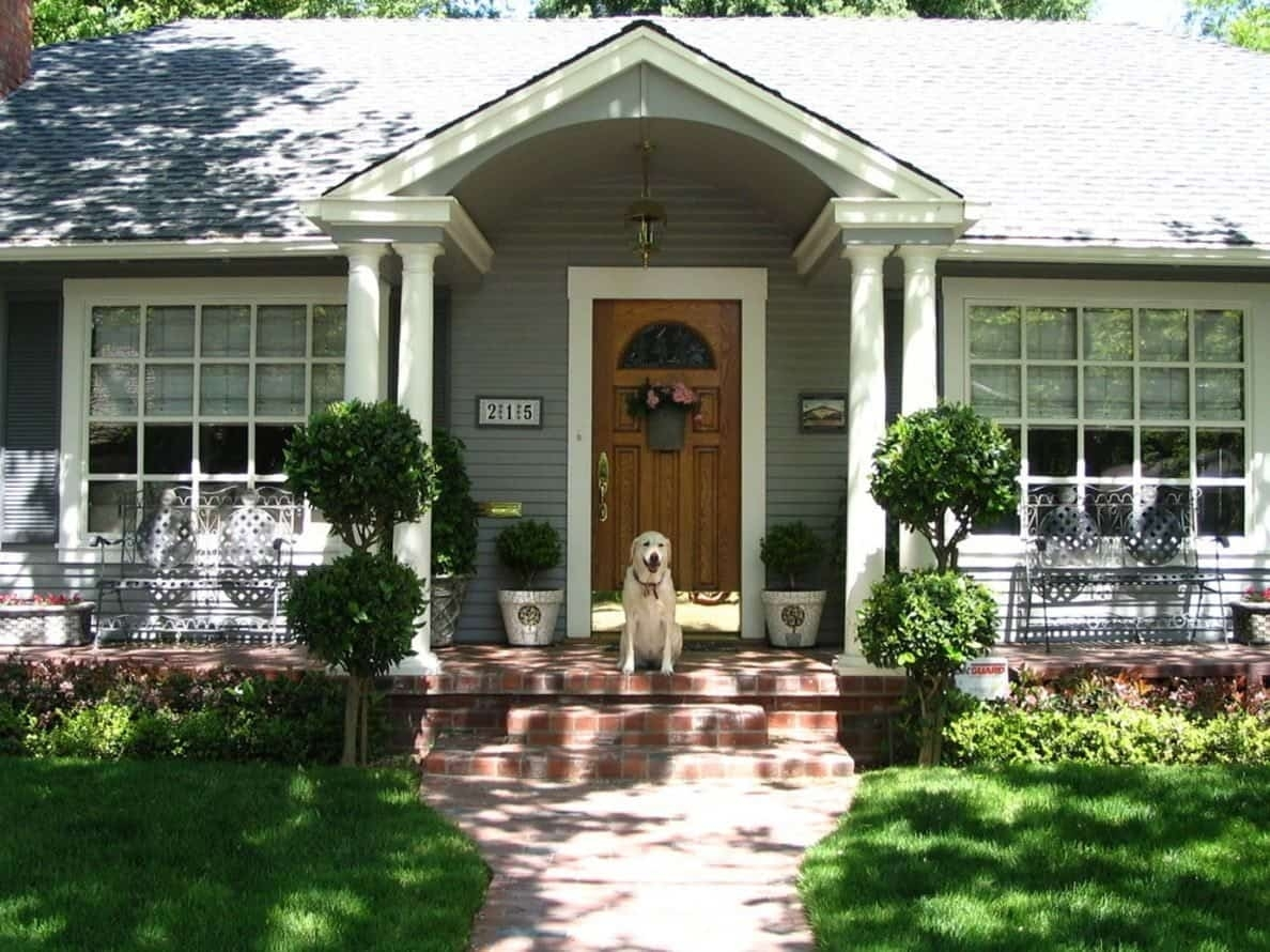 Artificial Front Porch Topiary Randolph Indoor And Outdoor Design