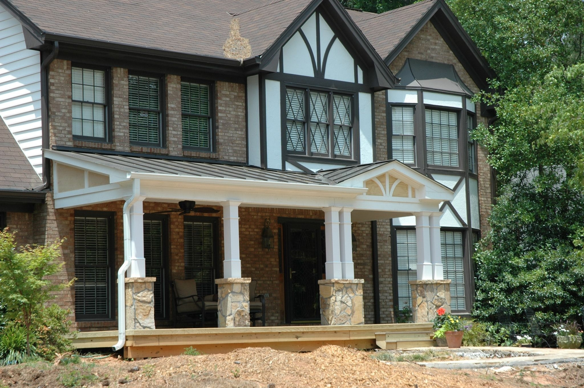 Adding A Porch To Flat Front House Randolph Indoor And Outdoor