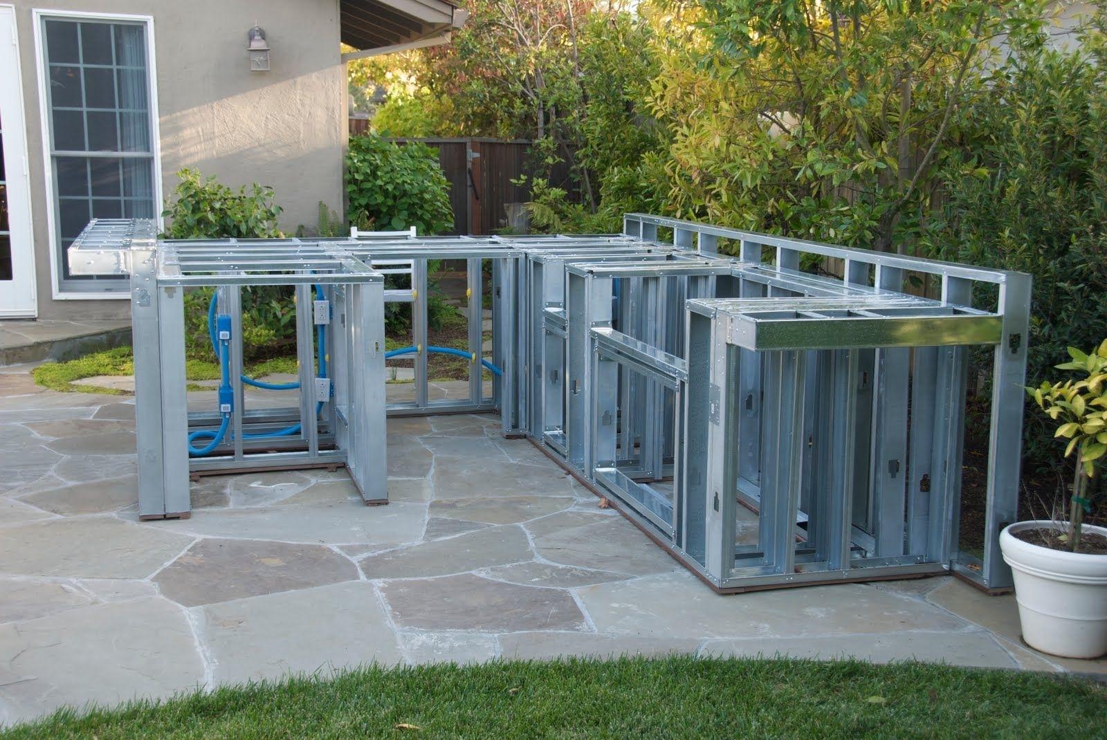 Metal Stud Outdoor Kitchen Ideas