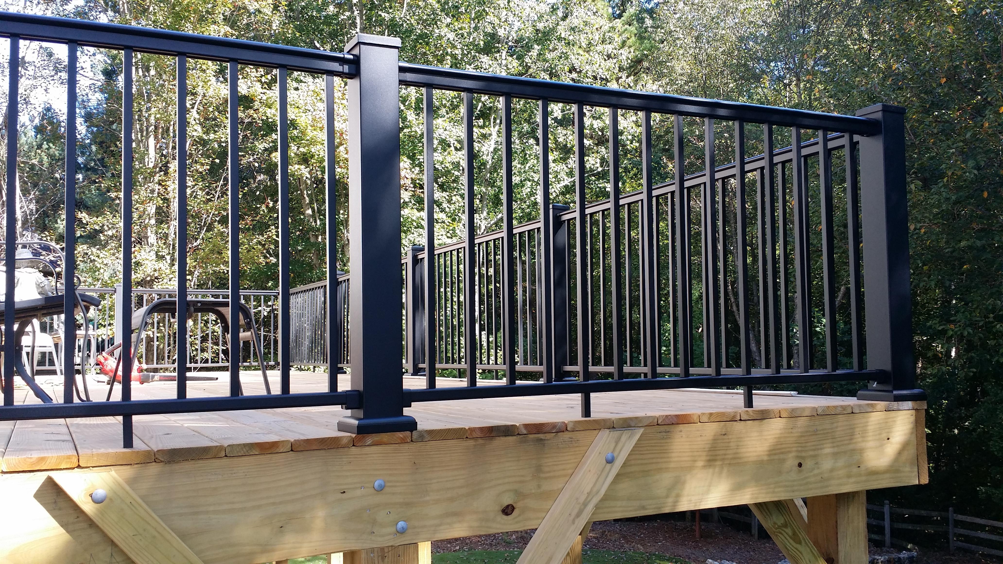 Decorate A Black Porch Railing