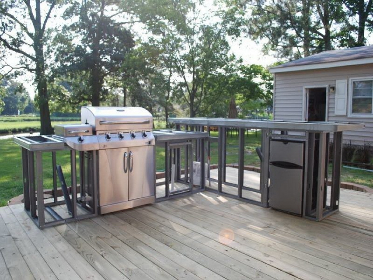 Strong And Durable Metal Frame Outdoor Kitchen Randolph