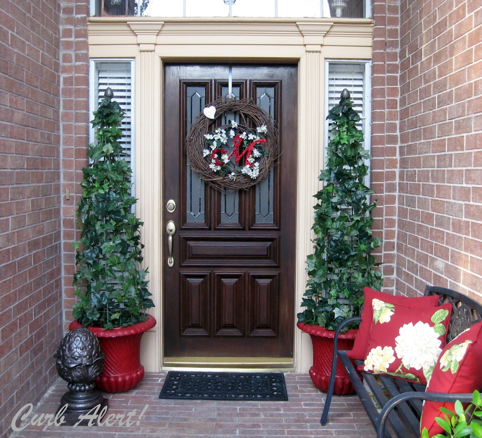 Christmas Topiary Balls.Artificial Front Porch Topiary Randolph Indoor And Outdoor