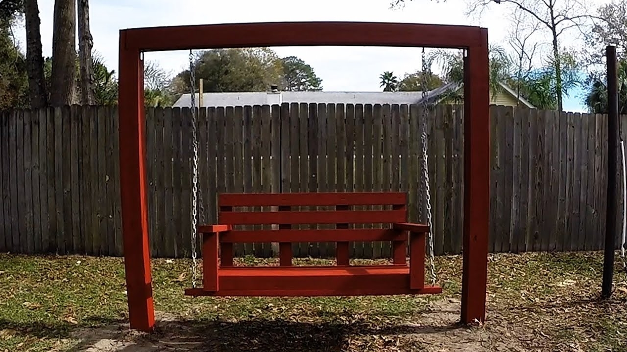 How To Build A Free Standing Porch Swing Frame