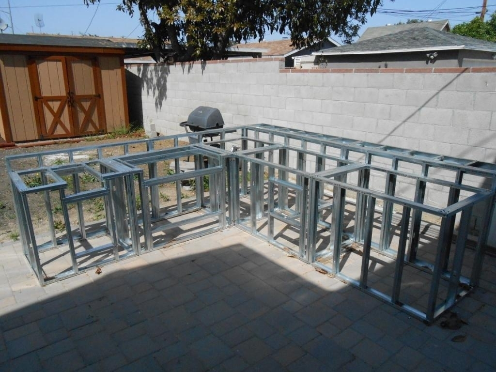 Frame Outdoor Kitchen With Metal Studs