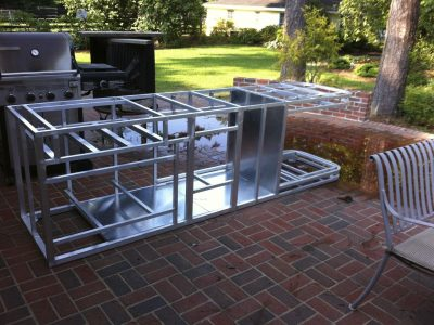 Strong And Durable Metal Frame Outdoor Kitchen Randolph Indoor And Outdoor Design