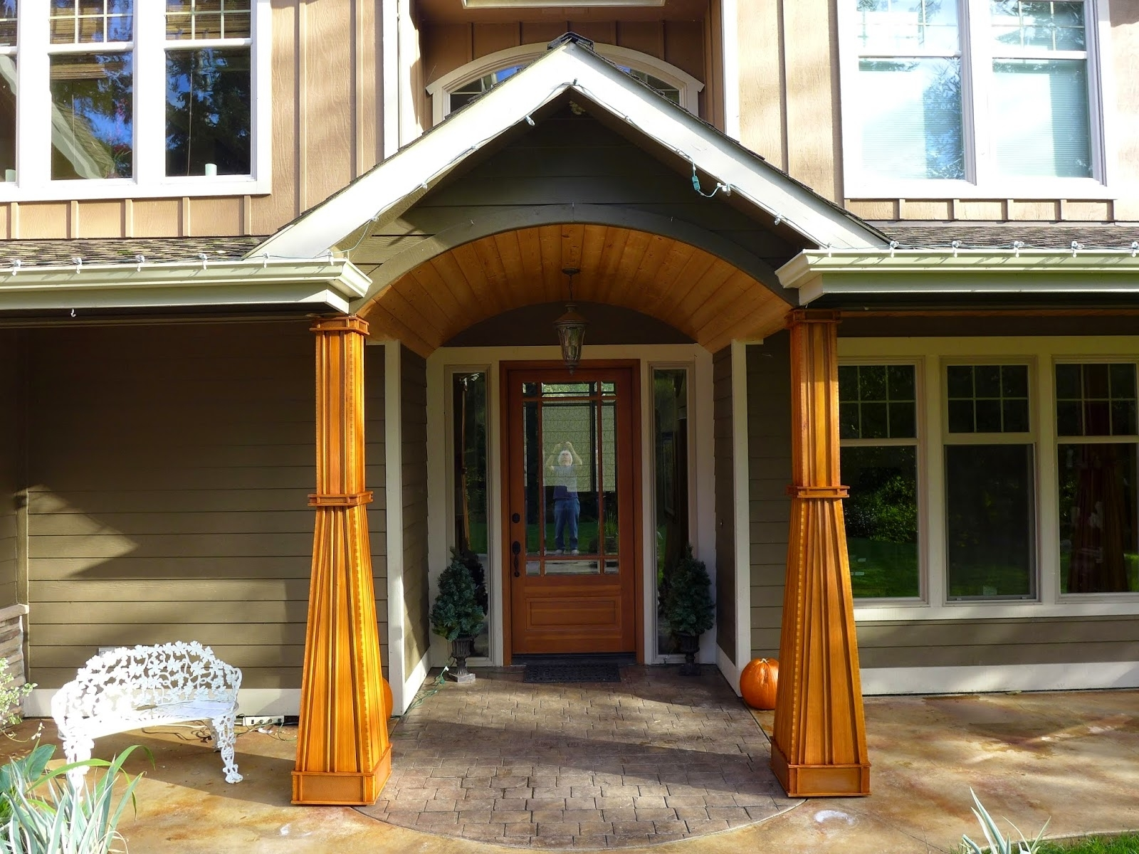 Cedar Wrapped Front Porch Columns Randolph Indoor And