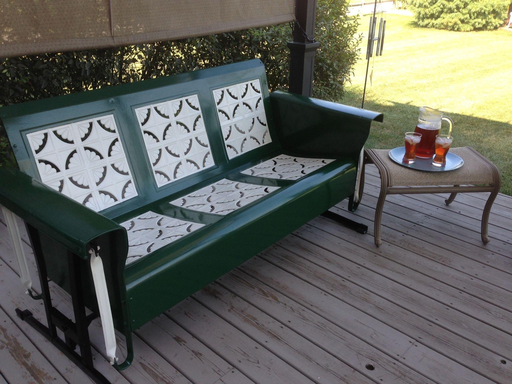 Reproduction Vintage Metal Porch Glider Randolph Indoor