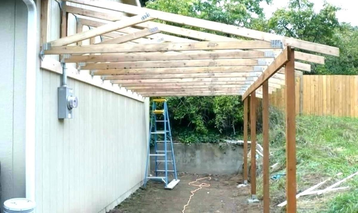 Framing A Shed Style Porch Roof Randolph Indoor And