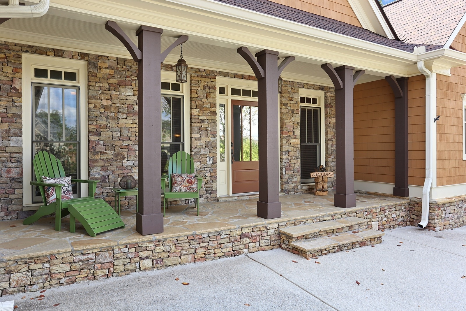 Stone And Cedar Porch Columns Randolph Indoor And