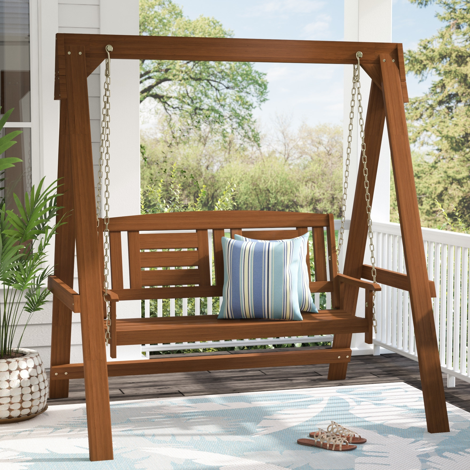 Super Strong Durable Free Standing Porch Swing  U2014 Randolph
