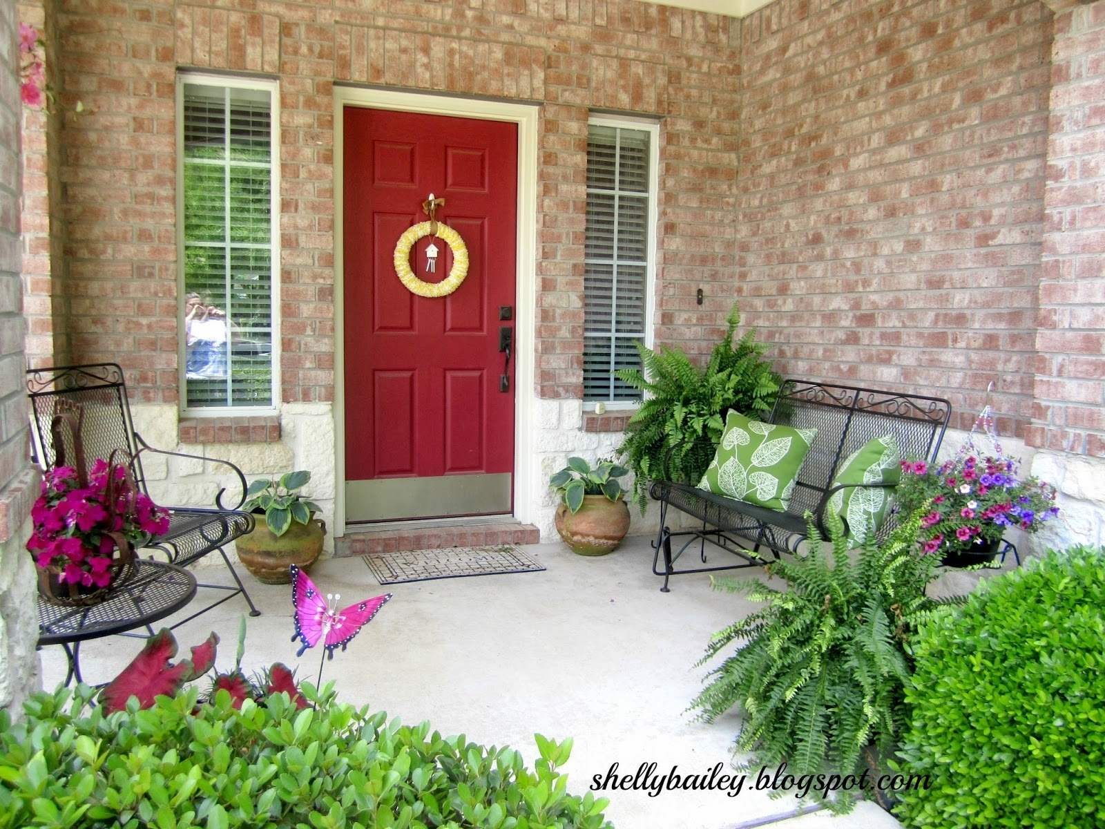 Artificial Front Porch Topiary Randolph Indoor And