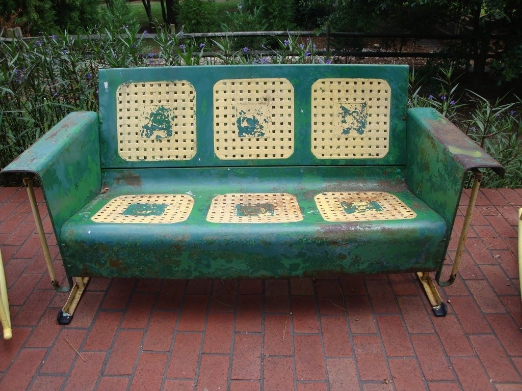 Brilliant Vintage Metal Porch Glider Chair Randolph Indoor And Caraccident5 Cool Chair Designs And Ideas Caraccident5Info