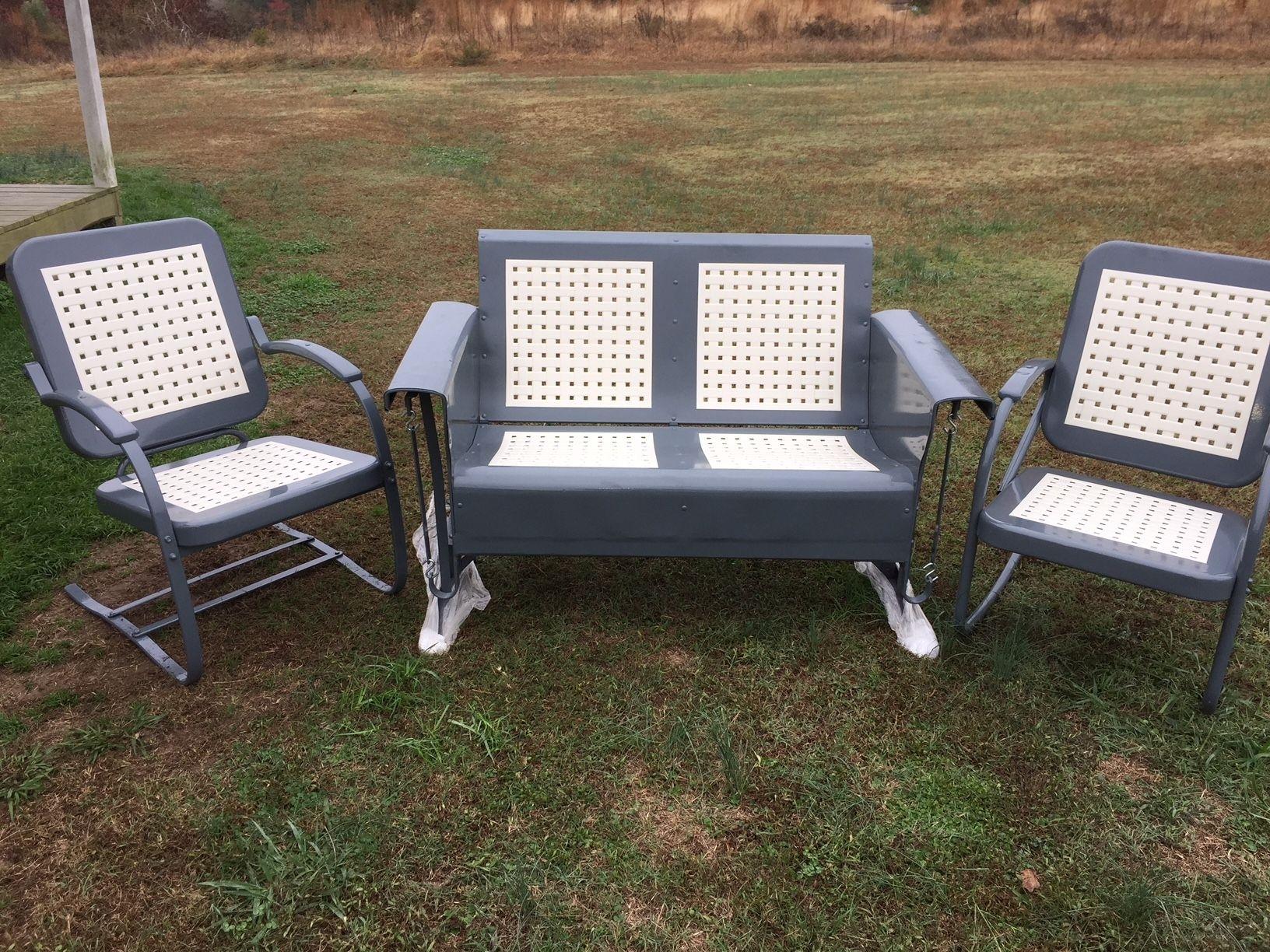 Vintage Simmons Metal Furniture Porch Glider