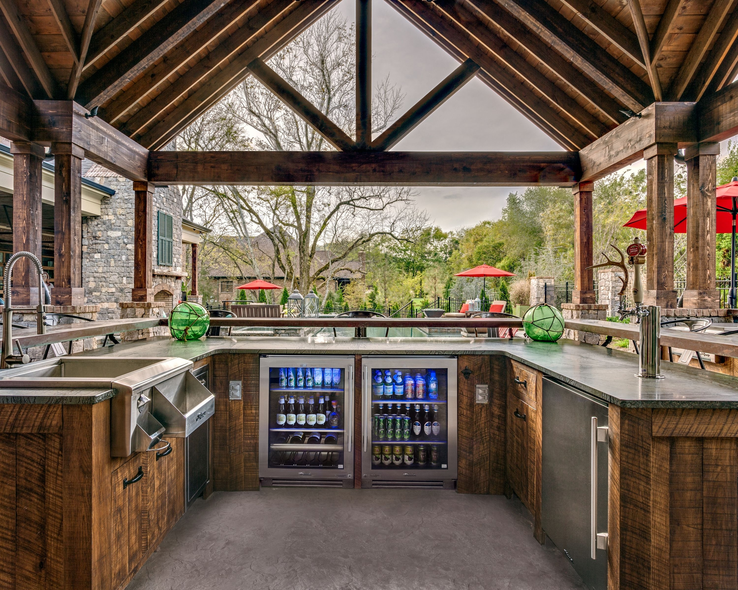 Good Outdoor Kitchen Beverage Center Randolph Indoor And Outdoor