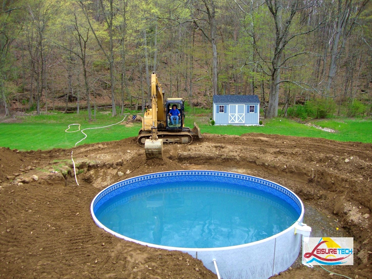 Above Ground Pool Landscaping Photos — Randolph Indoor and ...