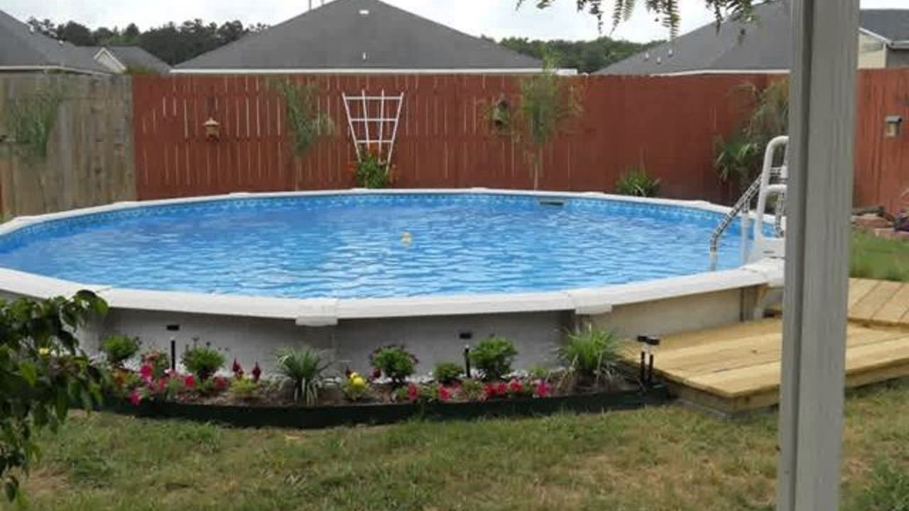 Above ground pool landscaping ideas on a budget randolph - Above ground pool deck ideas on a budget ...