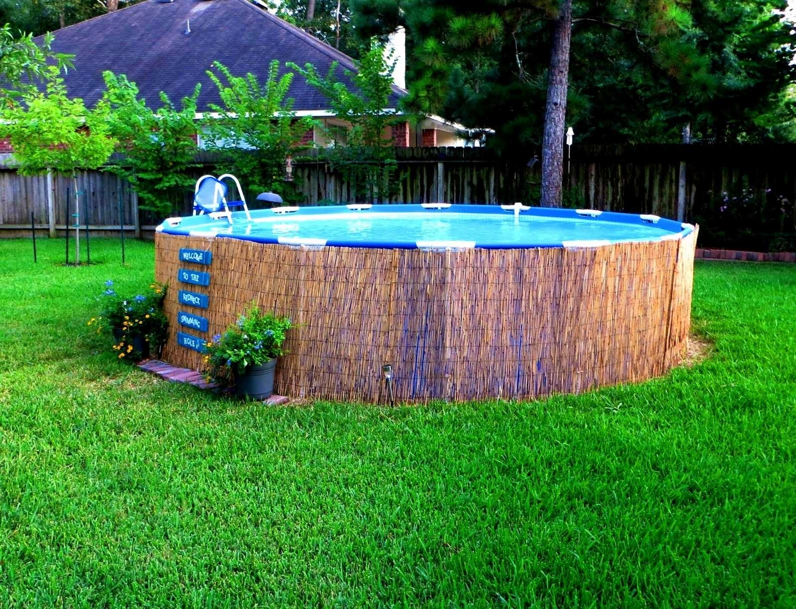 Above Ground Pool Landscaping Images — Randolph Indoor and Outdoor ...