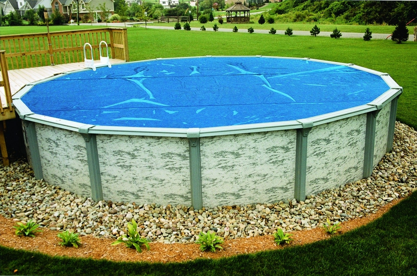 Above Ground Pool Landscaping Images Randolph Indoor And Outdoor Design
