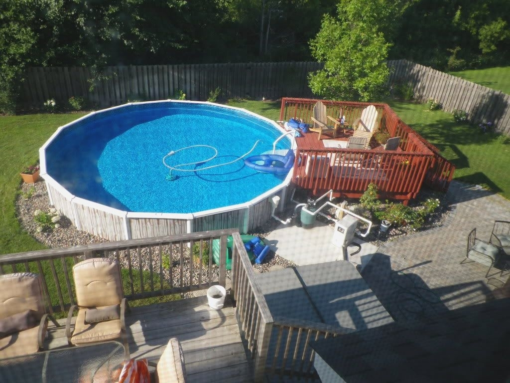 Above Ground Swimming Pool Landscaping Ideas Randolph Indoor And