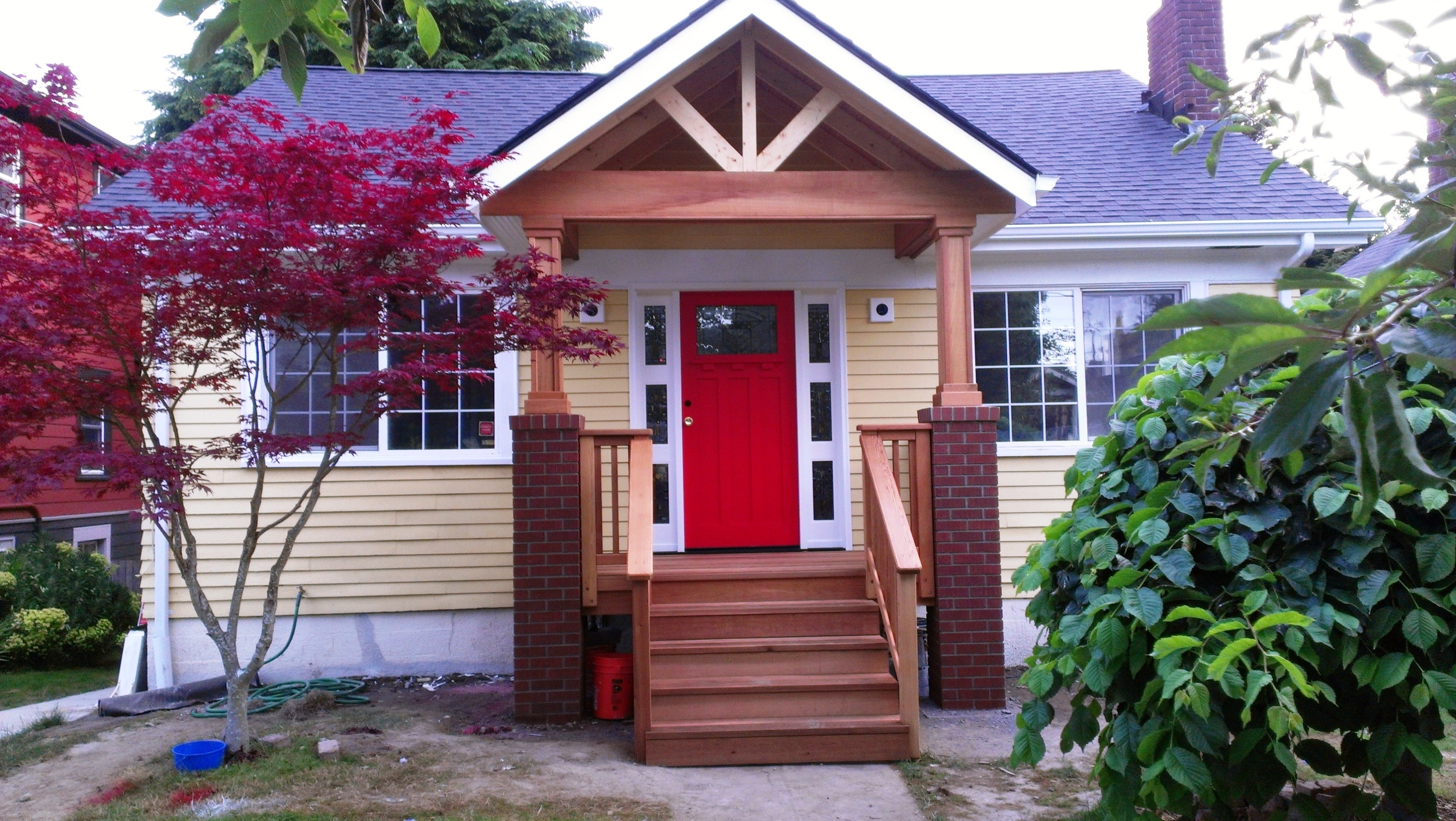 Adding A Front Porch To Brick House