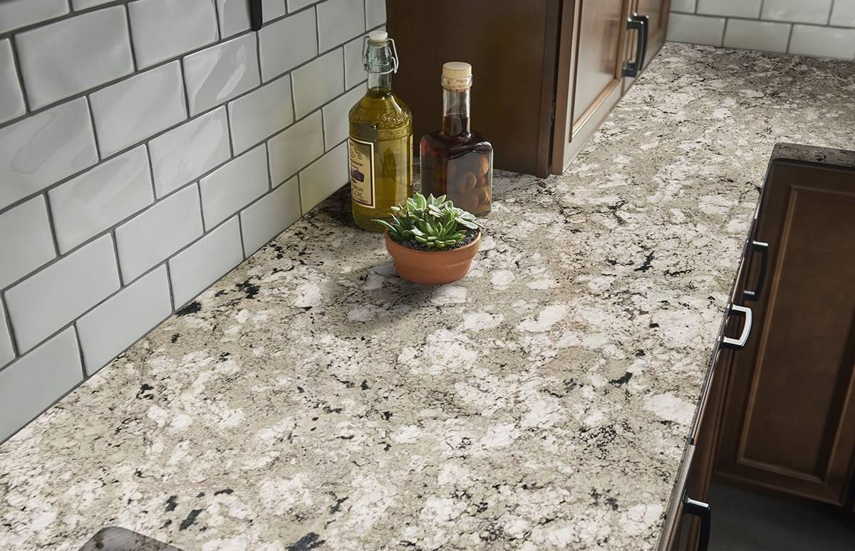 Alaskan White Granite With Tile Backsplash Randolph