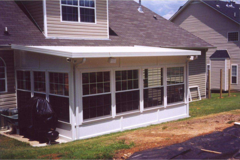 Installing Aluminum Soffit Under Porch Roof Randolph