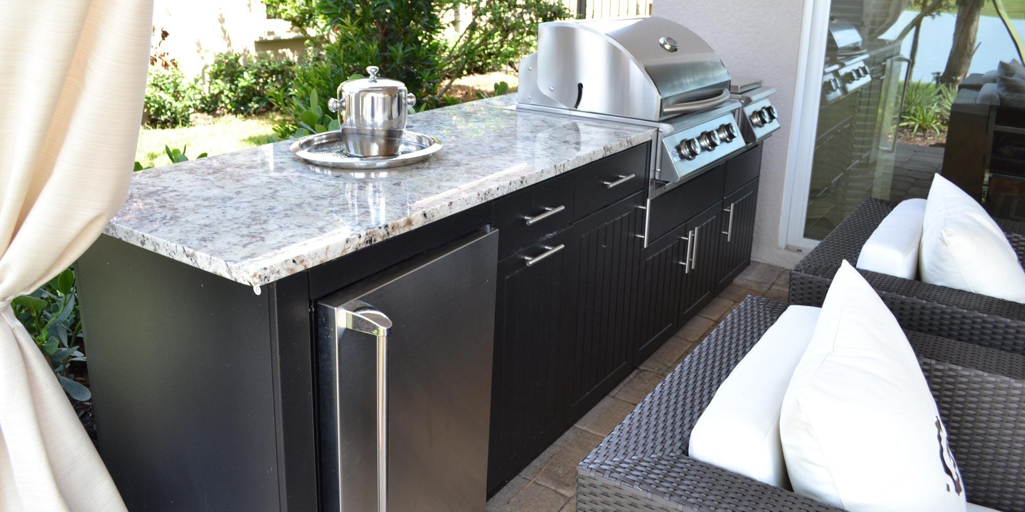 Amazing Outdoor Kitchen Granite Countertops Randolph Indoor And