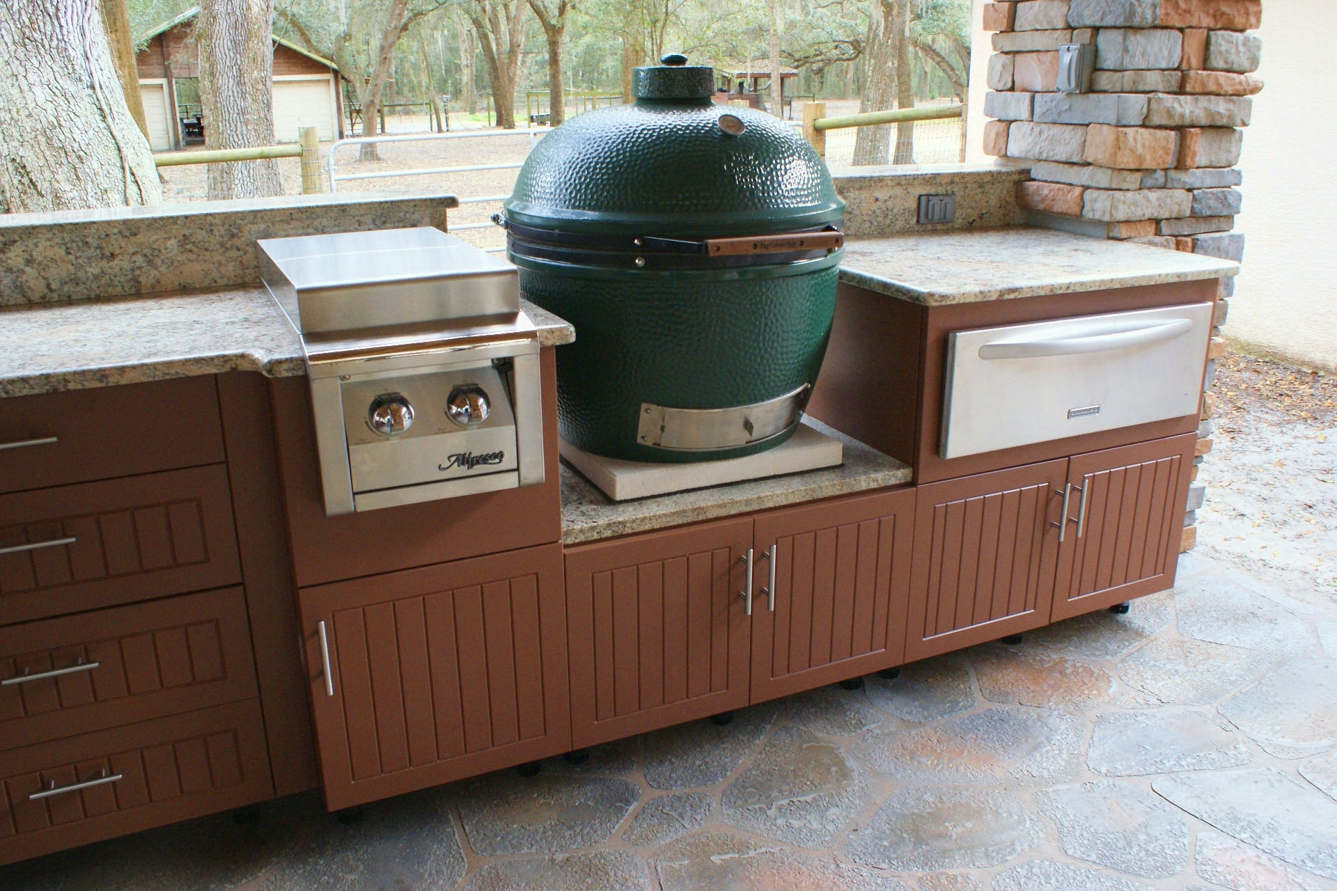 Green Egg Built In Outdoor Kitchen