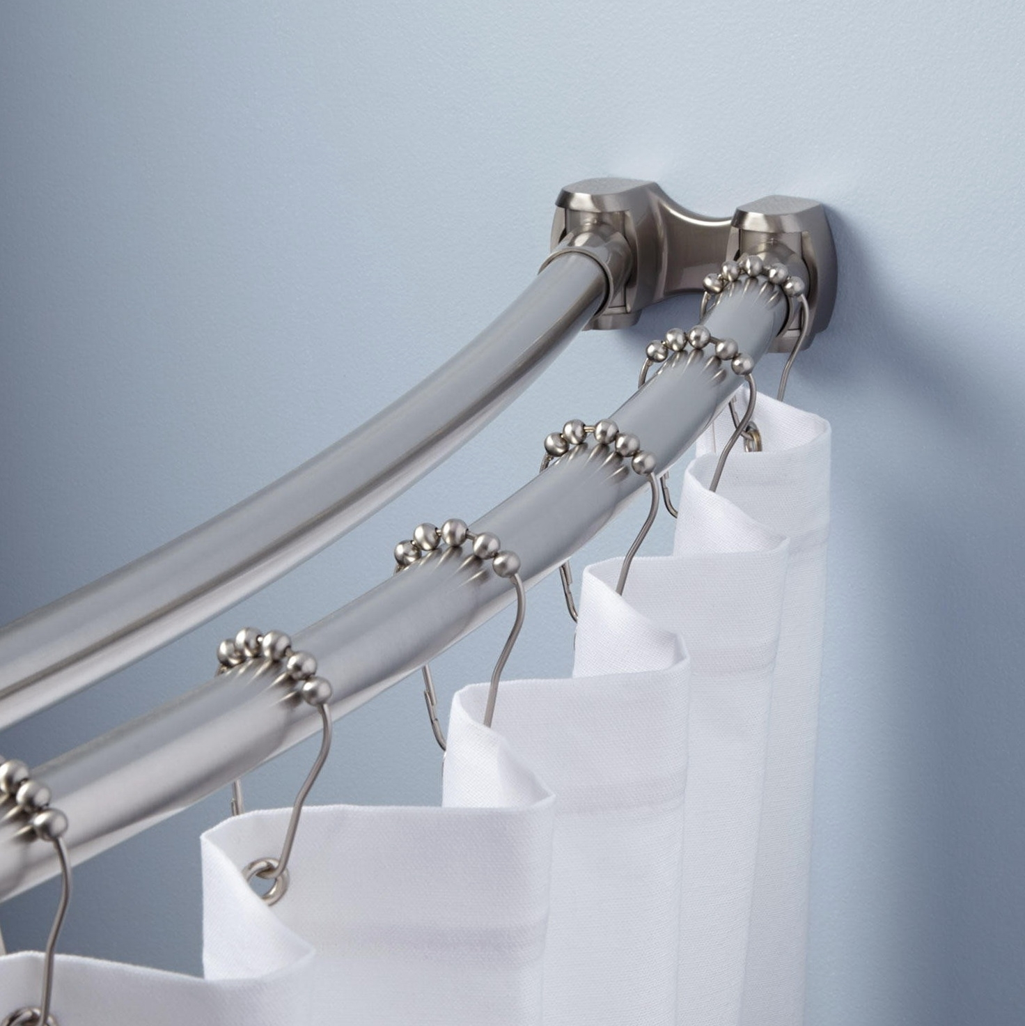 Bendable Shower Curtain Rod Curve Randolph Indoor And