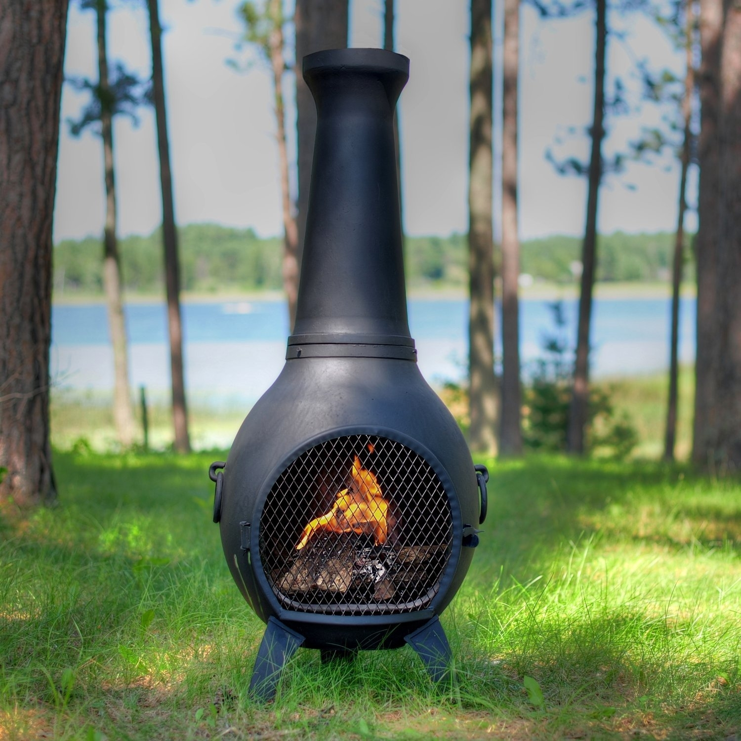 Diy Large Clay Chiminea Outdoor Fireplace Randolph Indoor And