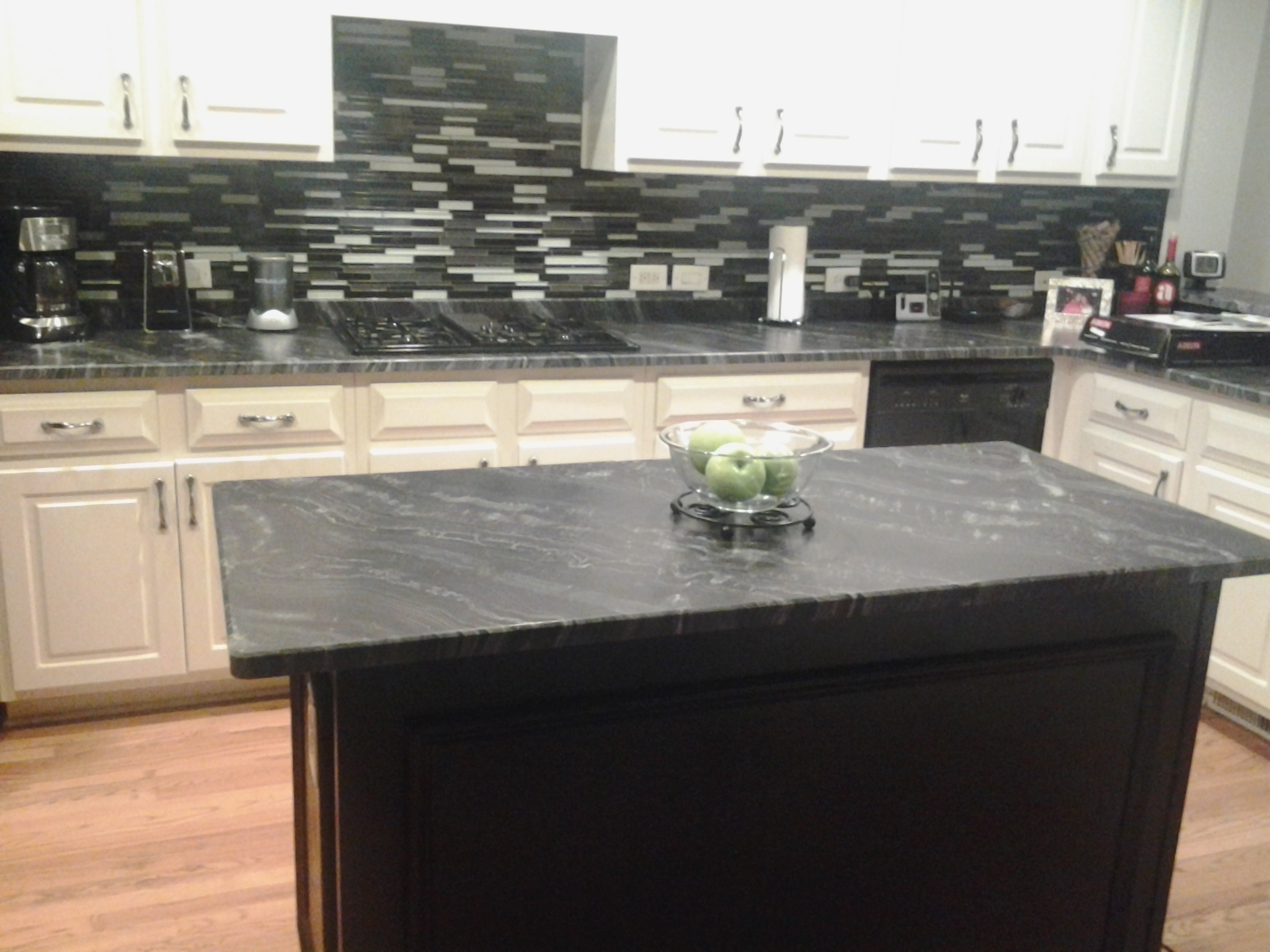 Black Leathered Granite Countertops