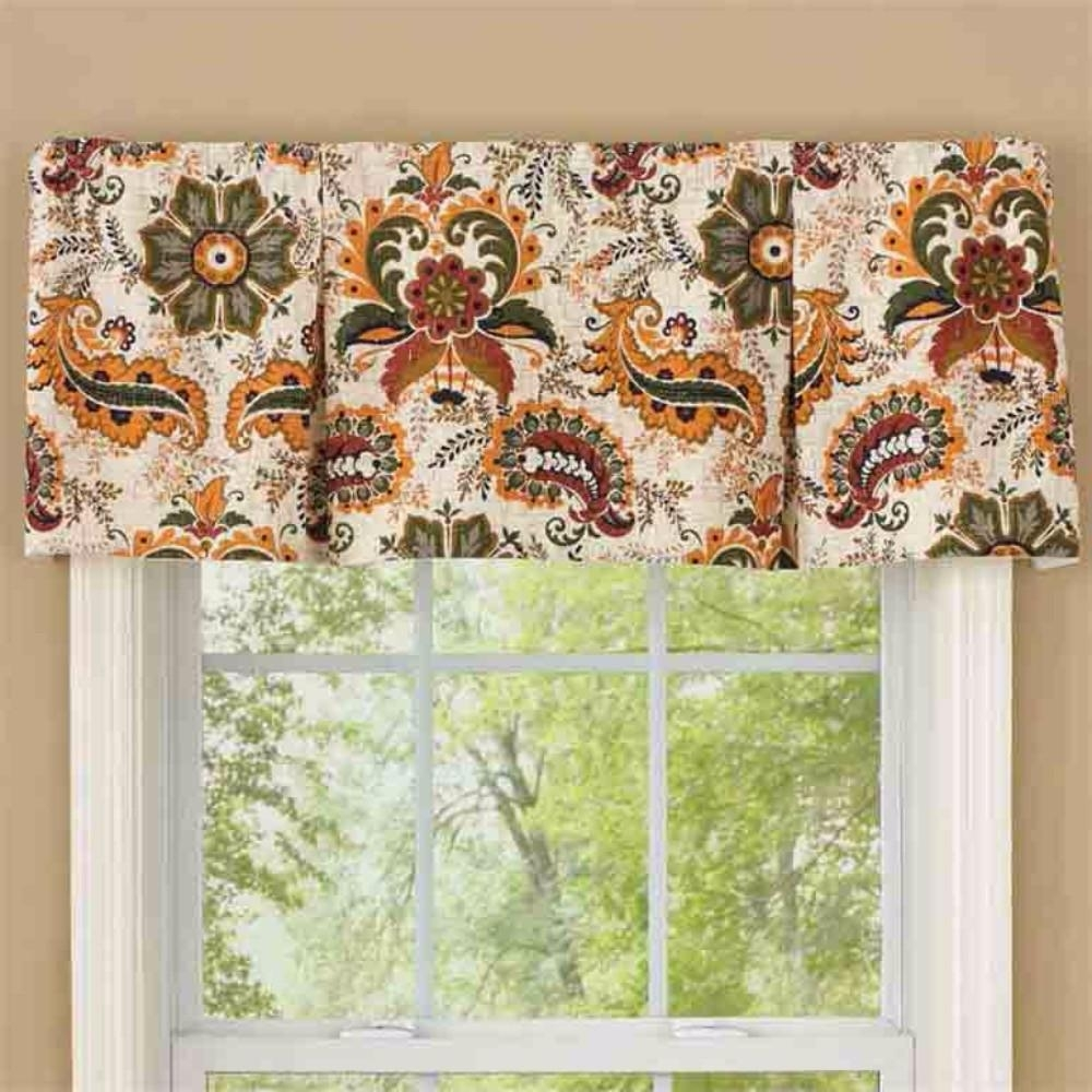 Box Pleated Window Valance Randolph Indoor And Outdoor