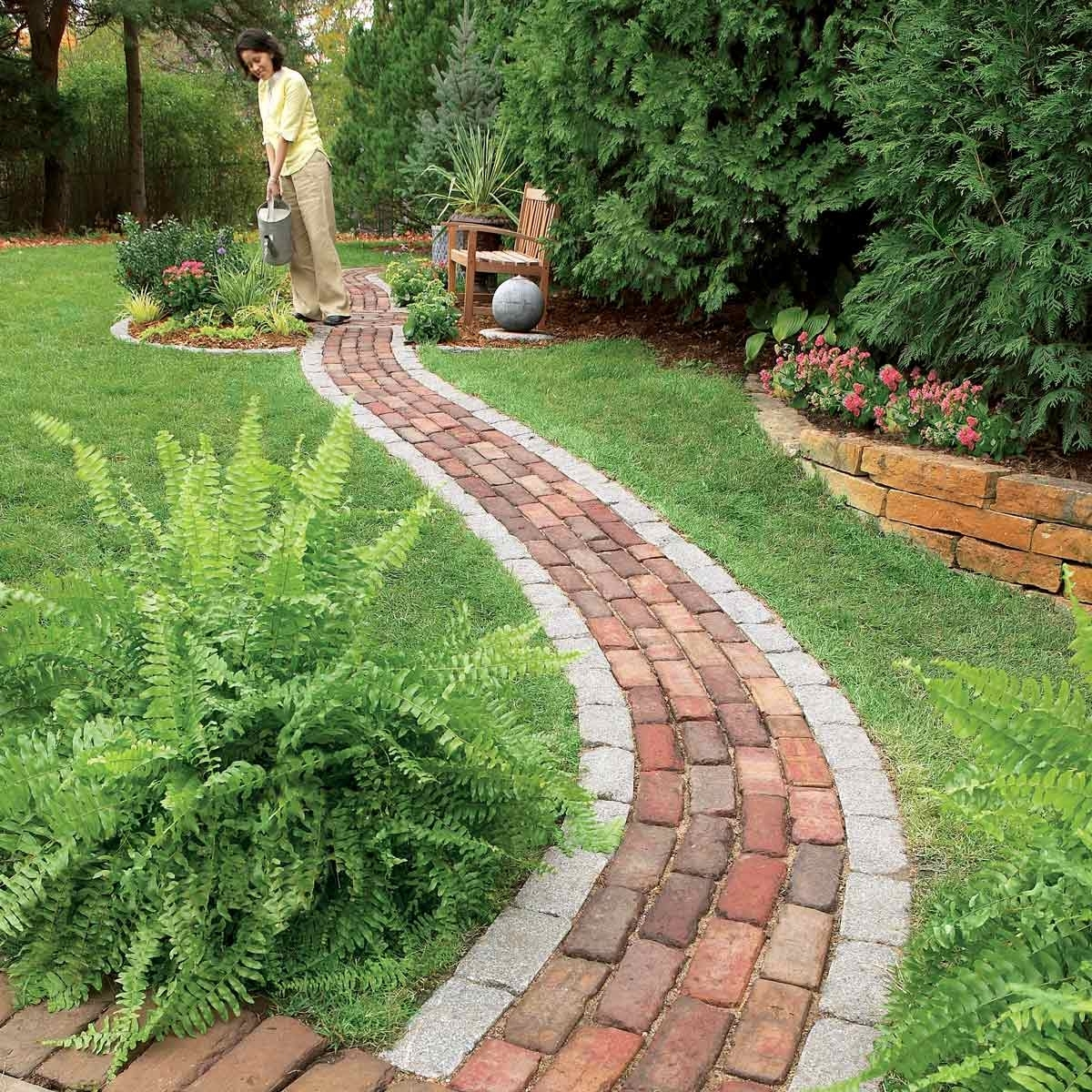 Image of: Brick Pathway Diy Concrete Landscape Edging Randolph Indoor And Outdoor Design