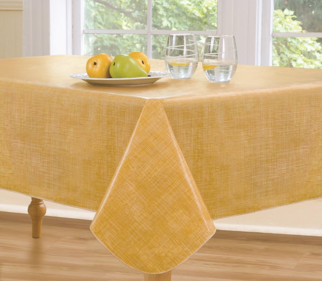 Carnation Home Fashions Vinyl Flannel Backed Tablecloth