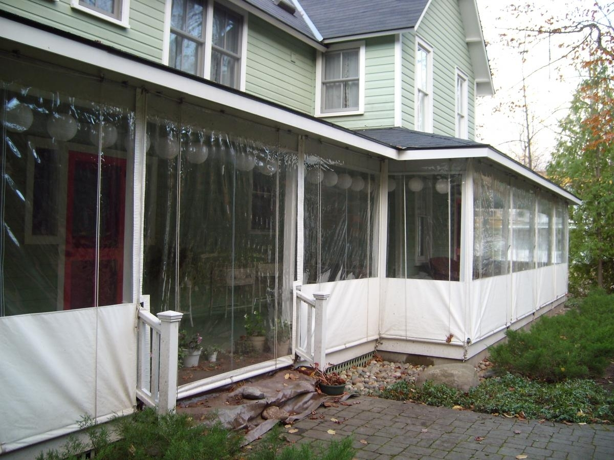 Clear Vinyl Porch Enclosures Cost Randolph Indoor And