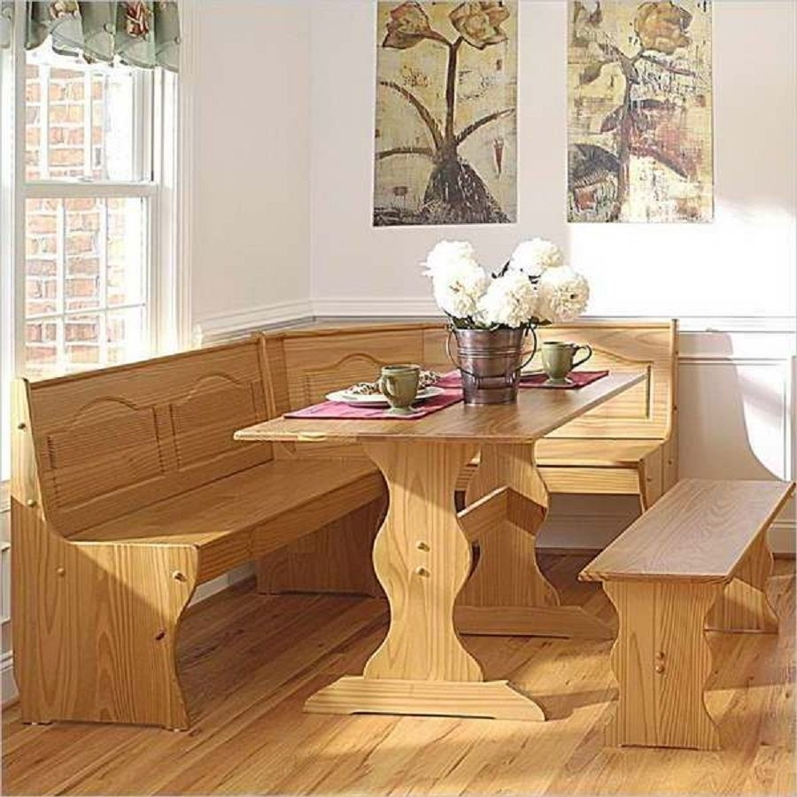 Wicker Bench Dining Set