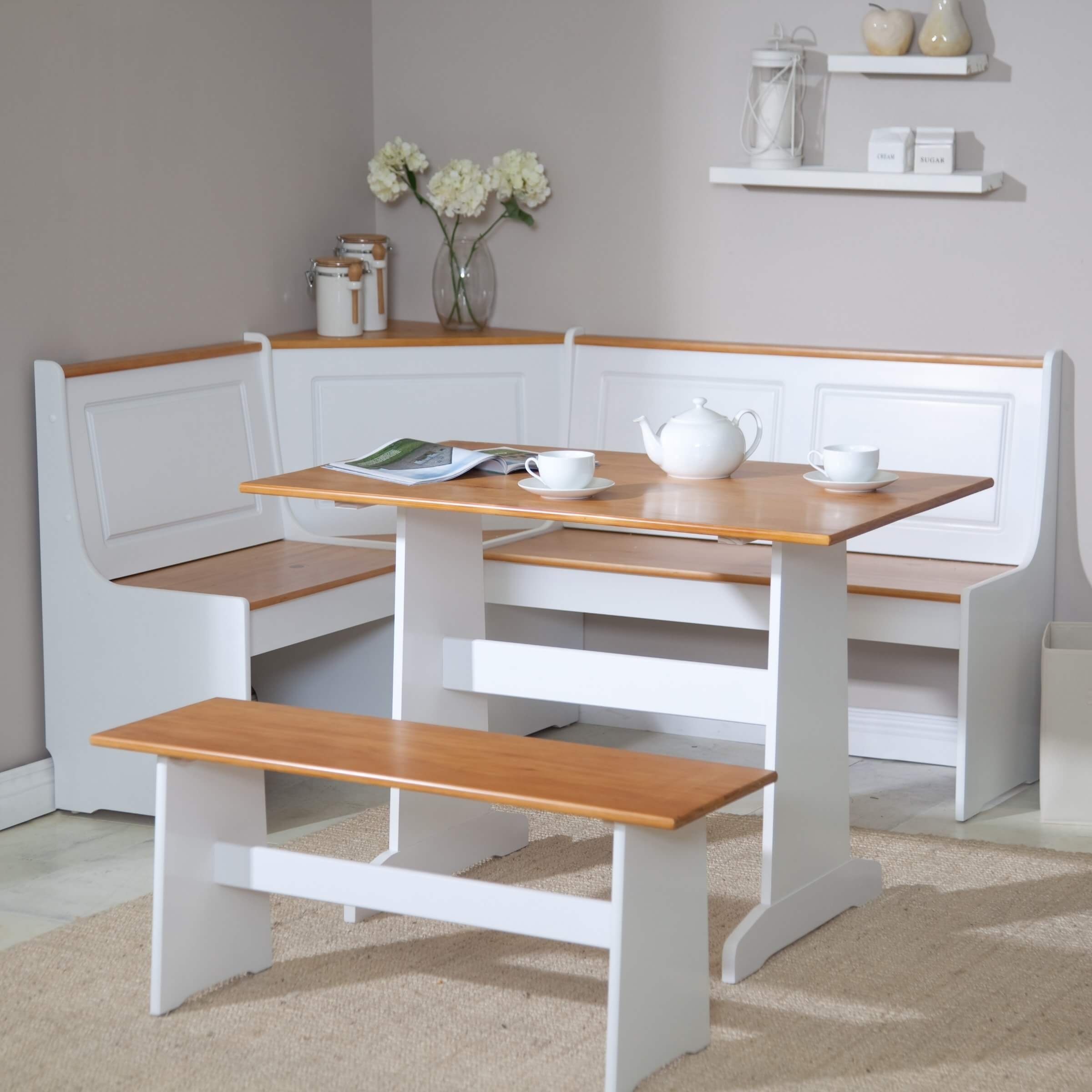 Corner Booth Dining Set Table Kitchen Randolph Indoor And