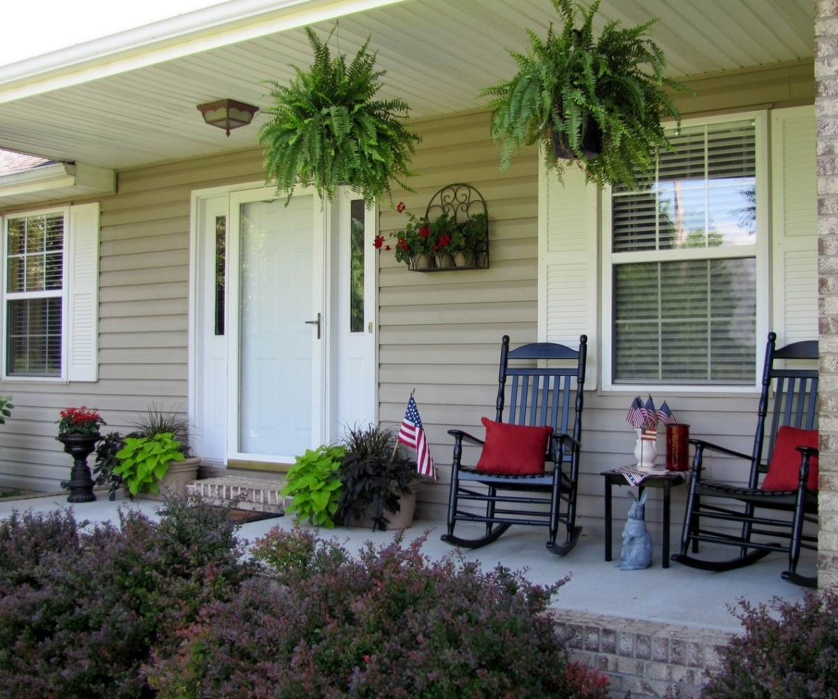 Country Style Front Porch Decorating Ideas Randolph